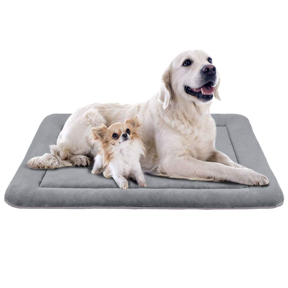 JoicyCo Extra Large Dog Bed Crate Mat 47 in Anti-Slip Washable Soft Mattress Kennel Pads by JoicyCo