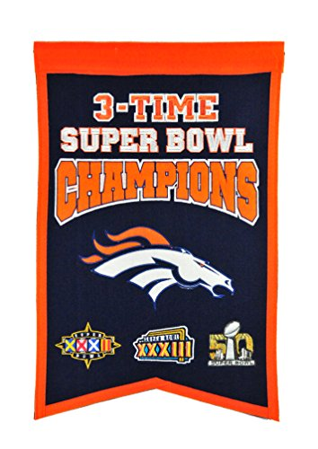 Team Super Denver Bowl Broncos - NFL Denver Broncos Super Bowl Champions Banner