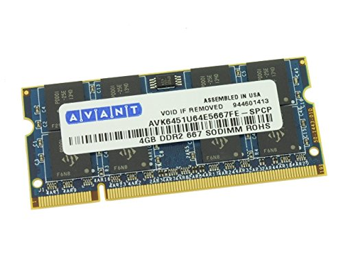 4GBPC5300 - NEW Dell DDR2 667Mhz 4GB PC2-5300 SOdimm Laptop RAM Memory ()