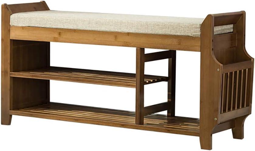 シューズベンチの交換シューズベンチの着用収納スツール、純木製 (色 : 78.5*29.5*49.5cm)