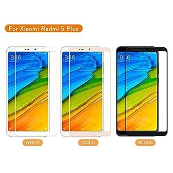 YswuJ Paquete de 2 Cristal Templado de Cubierta Completa para Xiaomi Redmi 4A 4X 4 Pro Note 4 4X 5A Note 4 Versi/ón Global Protector de Pantalla Pel/ícula endurecida Mi A1,para Redmi Note 4 Global,
