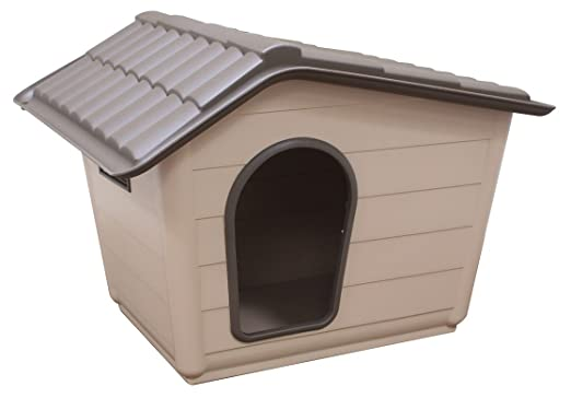 Dog pet kennel hygienic indoor outdoor shelter plastic for Niche exterieur chat