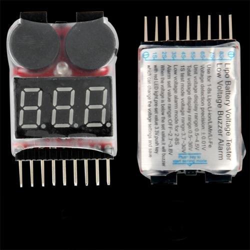 Ecloud Shop 1-8s Spannung Lipo Akku Alarm Checker Anzeiger Tester YCJ97