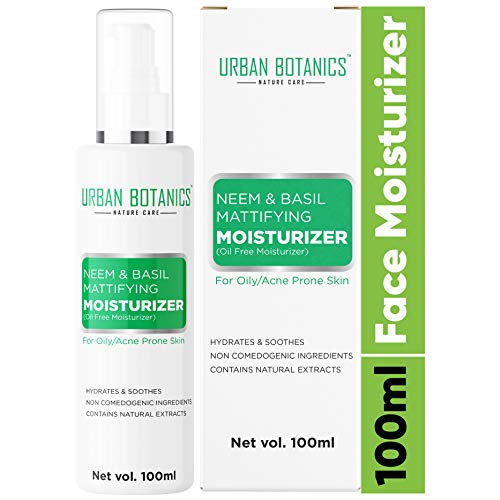 UrbanBotanics® Oil Free Moisturizer For Face – Mattifying Moisturiser Face Cream for Oily/Acne Prone/Normal Skin – with…