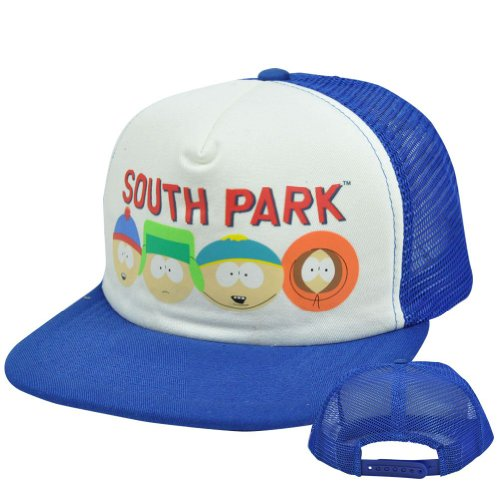 comedy-central-south-park-eric-cartman-stan-kyle-kenny-flat-trucker-snapback-hat