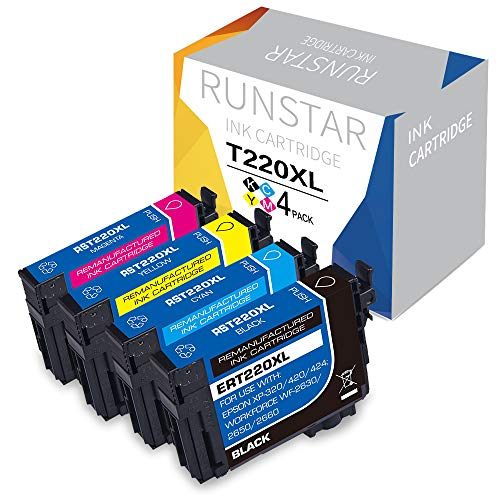- Run Star Remanufactured Ink Cartridge Replacement for Epson 220XL 220 XL T220XL Used in Epson WF-2760 WF-2750 WF-2630 WF-2660 WF-2650 XP-320 XP-420 XP-424 (1 Black, 1 Cyan, 1 Magenta, 1 Yellow)