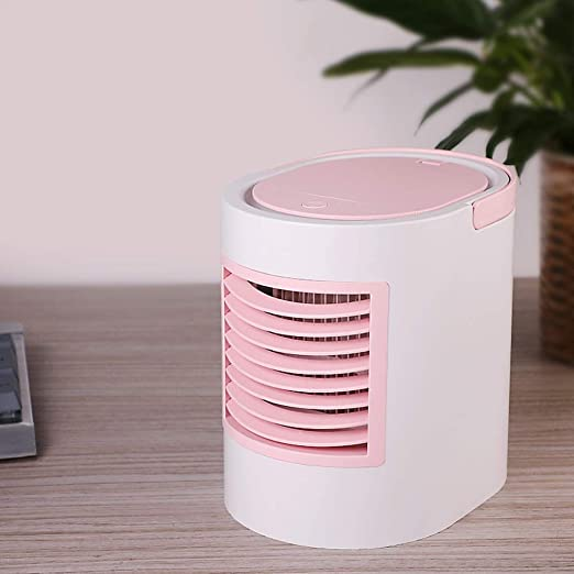 JYKJ Ventilador de Aire Acondicionado Ventilador de Aire pequeño Ventilador de Aire Acondicionado portátil Rosa/Azul/Gris Purificador de Aire Ventilador de enfriamiento de Escritorio (Color : Pink): Amazon.es: Hogar