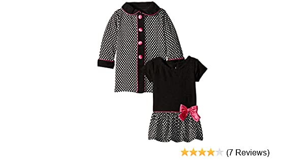 0979da19a Amazon.com  Youngland Baby Girls  Houndstooth Dress and Coat