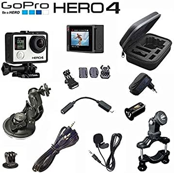 Cámara GoPro Hero4 Silver Edition Pack Rally – Soporte Banda, cable Intercom Radio Peltor & Stilo, micrófono,