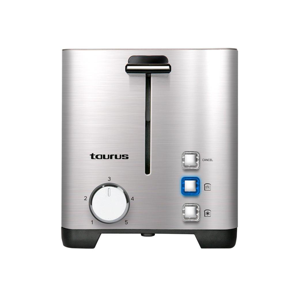 Taurus Mytoast Duplo Legend Tostador de 40 mm 1400 W, Acero Inoxidable, 2 Ranuras, Gris: Amazon.es: Hogar