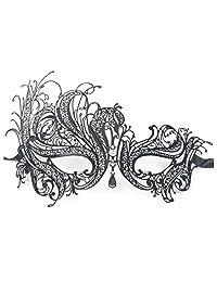 Signstek Metal Stylish Laser Cut Filigree Masquerade Venetian Mask