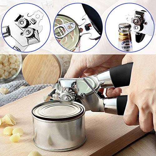 Can Opener Manual Smooth Edge Manual Can Openers Safety Hand Held Can Opener Safe for Round Cans