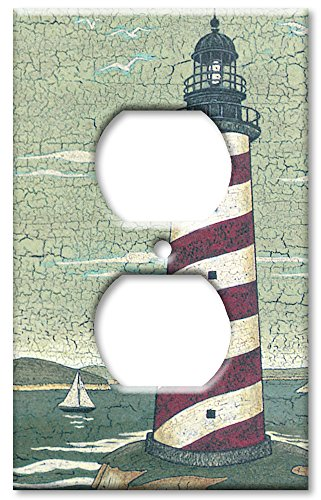 Outlet Cover Wall Plate - Cape (Lighthouse Switchplate Cover)