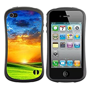 Pulsar iFace Series Tpu silicona Carcasa Funda Case para Apple iPhone 4 / iPhone 4S , Prairie and sunset