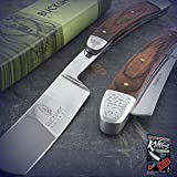 New Cool 10-Inch Straight Edge Folding Steel Razor Wood Handle Shaving Pro Tactical Elite Knife Barber Beard for Home Camping Hunting Rescue + free Ebook by ProTactical'US