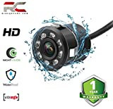 Riderscart LED Night Vision Waterproof Car Rear View Reverse Parking HD Camera for (All Cars)