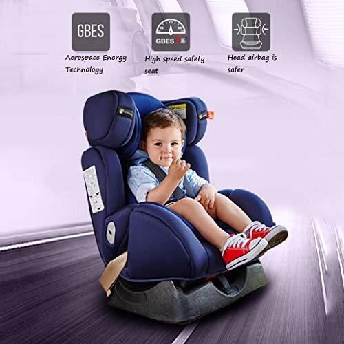 Booster Car Seat Reclining (Car Seats Child Safety seat high-Speed Safety seat 0-7 Years Old Sitting Reclining seat Motor Vehicle Child Occupant seat Belt car Baby Safety Chair (Color : Blue-B, Size : 53.549.570.5cm))