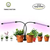 [2018 New Upgrade] Camande 36 LED 18W Plant Growth Light,3/6/12H Dual head Timing Plant Lamp for Any Indoor Plants with Red/Blue Spectrum Switching,Cycle adjustable light level, Adjustable Gooseneck Review