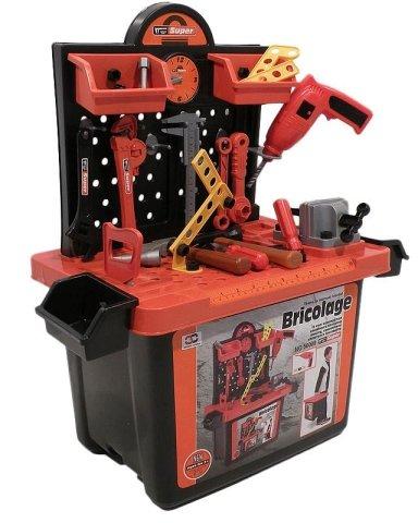 Banco de trabajo y set de herramientas de juguete para niños Más