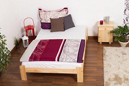 Cama futón (Pino 120 x 200 cm natural con somier: Amazon.es ...