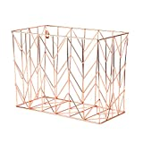 Office Products : U Brands Hanging File Desk Organizer, Wire Metal, Copper