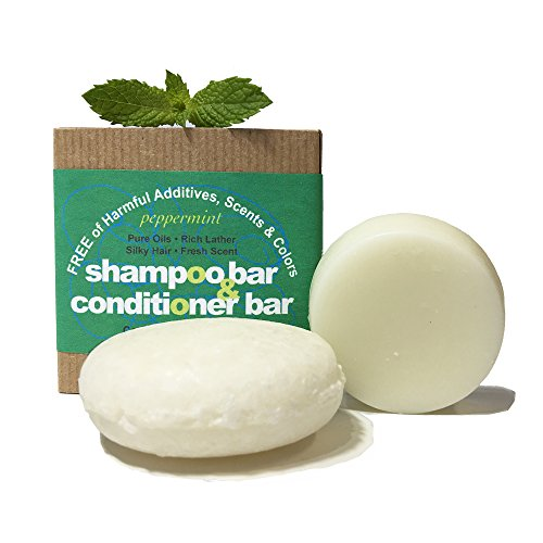 Whiff Shampoo Bar & Conditioning Bar, Peppermint
