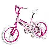 16' Children BMX Girls Kids Bike Bicycle With Training Wheels Steel Frame...