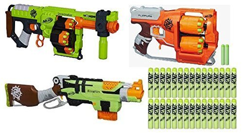 Licensed Nerf Gun Doominator Zombiestrike Elite Blaster With 24 Darts  Bullet Pistol Kids Toys For Children