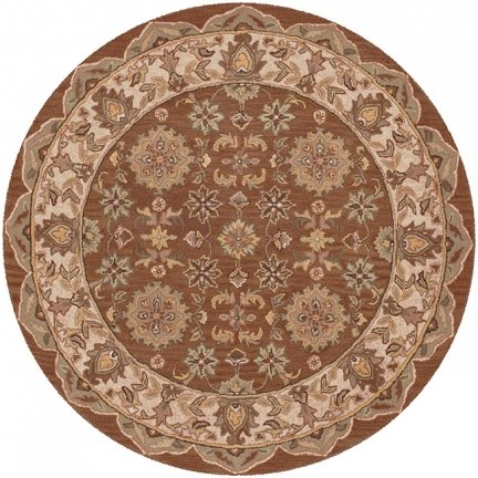 LR Resources Shapes Coffee/Ivory Persian Rug Round 5' (Lr Resources Shapes)