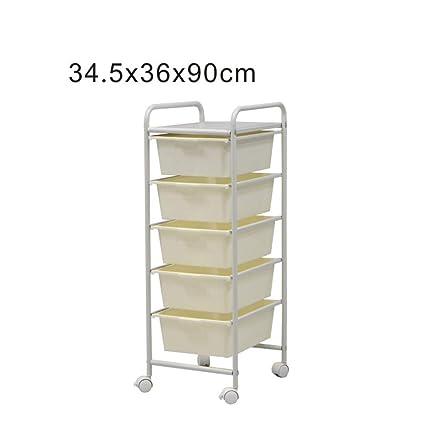 estantería Duo baldas Cajones Carrito de Almacenamiento Carrito de Almacenamiento Carrito de Almacenamiento Marco de Metal