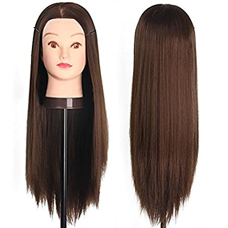 Amazon.com: Manikin Head Cabeza Manikins Para Peluca Cabello Pelo Profesional Free Table Clamp