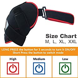 sticro Far Infrared Shoulder Heating pad with Large Heated Area, 3 Temperature Setting Brace Wrap for Rotator Cuff, Joint Capsule, Arthritis, Tendonitis, Frozen Stiff Joints, Pain Relief