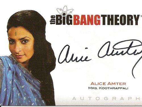 Big Bang Theory Alice Amter as Mrs. Koothrappali Autograph Trading Prankster #A10