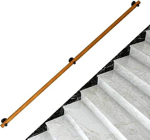 Antideslizante Barandillas de escalera de madera antideslizantes Inicio contra la pared Loft interior Barandillas para ancianos Barandillas para villas, desvanes, con tornillos Instalación fácil: Amazon.es: Hogar
