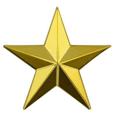 amazon com pinmart s military 3d 5 point gold star lapel pin jewelry