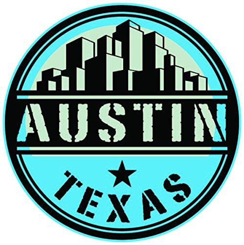 NI408 **2-Pack** Austin Texas Vinyl Decal Sticker   - Austin Sticker
