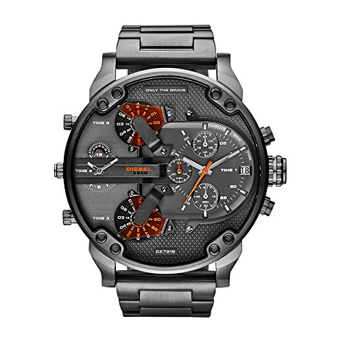 Watch Diesel Chronograph (Diesel Men's Mr Daddy 2.0 Quartz Stainless Steel Chronograph Watch, Color: Grey (Model: DZ7315))