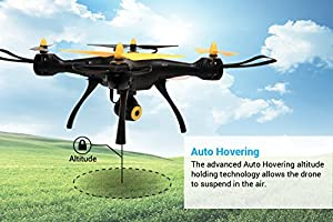 Tenergy Syma X8SW Wi-Fi FPV Quadcopter Drone 720P HD Camera Altitude Hold RC 2.4G 4CH 6 Axis, Black/Yellow from Tenergy