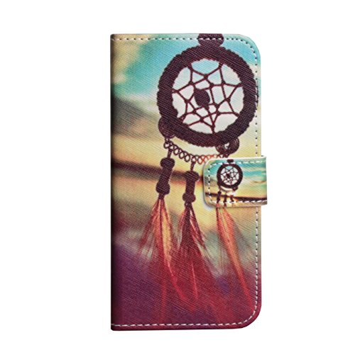 Monkey Cases® iPhone 6 4,7 Zoll - Flip Case - TRAUMFÄNGER - Premium - original - neu - Tasche - dreamcatcher red #2