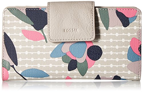 Fossil Emma Rfid Tab Wallet, Floral Multi/White
