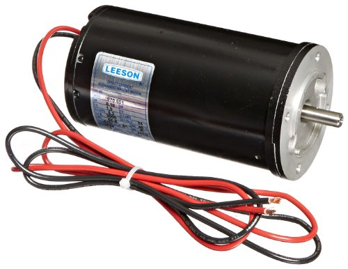 Leeson 970.601 Low Voltage Commercial DC Metric Motor, 56D Frame, B14 Mounting, 1/8HP, 3000 RPM, 24V Voltage