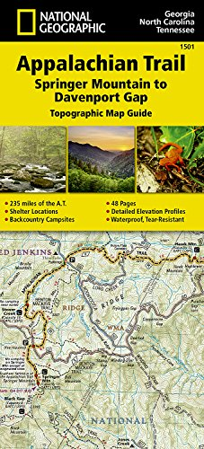 Appalachian Trail, Springer Mountain to Davenport Gap [Georgia, North Carolina, Tennessee] (National Geographic Topographic Map Guide)