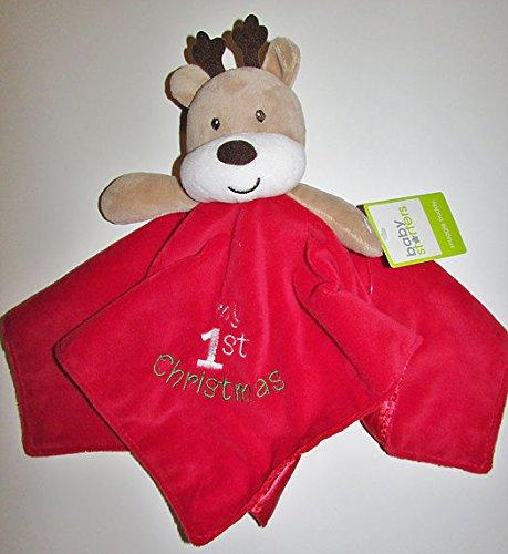 Baby's My First Christmas Plush Reindeer Snuggle Buddy Blank