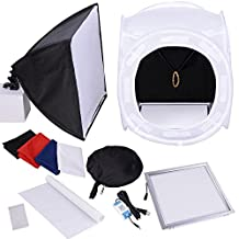 "AMPERSAND 16"" Photo Shoot Cube LED Light Studio Tent Kit Softbox"