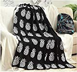 110 Inch Wide Comforters TUNDSKHF Knitted Throw Blanket for Kids Pineapple Sofa Blankets and Throws Pineapple Blanket Knitted Throw Blanket Black and White 90 x 110cm