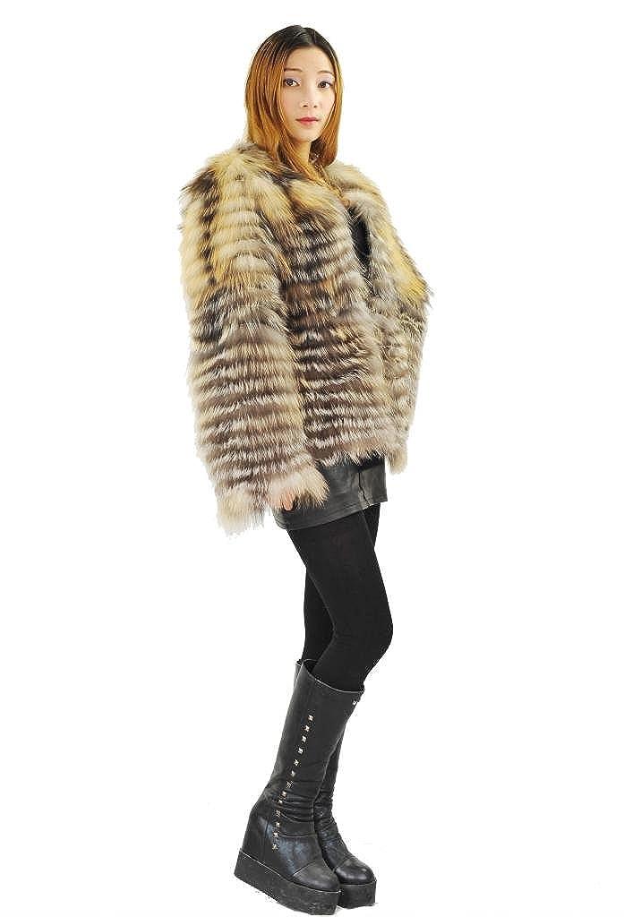 Amazon.com: CX piel mujer chaquetas chaquetas de oro real de ...