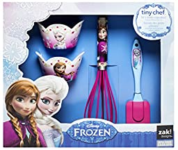 Zak! Designs 4-Piece Tiny Chef Cupcake Baking Set with Elsa & Anna from Frozen