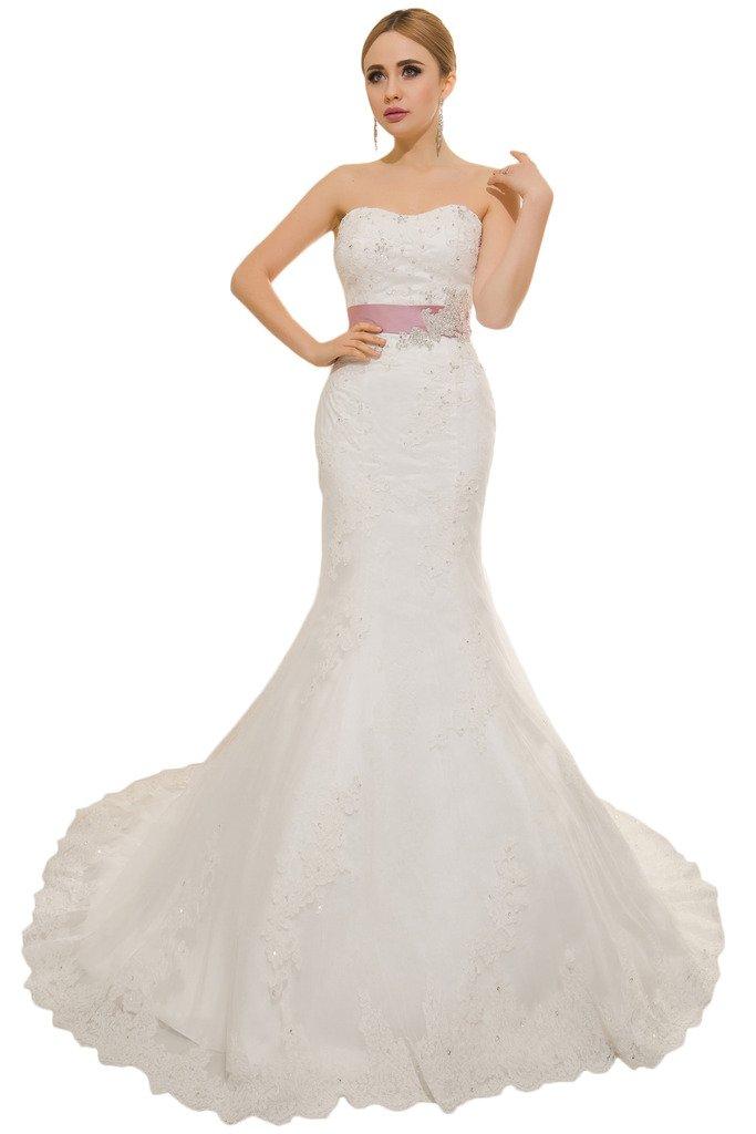 (ウィーン ブライド) Vienna Bride ウェディングドレス 花嫁ドレス ドレス レース ブライダル ふんわりとする裾 編み上げ ハイネック 透け感 オープンバック ウエストニッパー アップリケ B01MY767NP 27W|アイボリーB アイボリーB 27W
