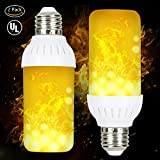 #6: LED Flame Bulbs, HogarTech Flickering Flame Effect Light Bulb E26 Base, UL Listed, Fire Upside Down, Simulated Atmosphere Lighting for Hotel/ Pathway/ Festival Decoration - Upgraded Lamp 2 Pack
