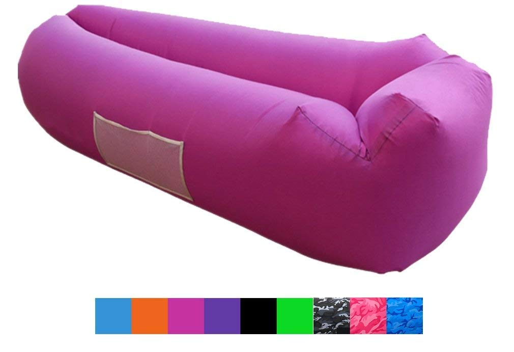 Legit Camping Lounge-Rosered-vc air Lounger, Standrad, Rose red by Legit Camping (Image #1)